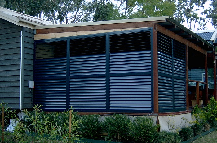 Exterior: Outdoor Plantation Shutters Aluminium External Shutters